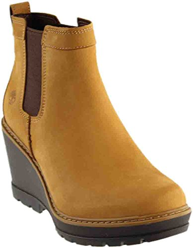 Timberland Women's Kellis Double Gore Chelsea Boot,Wheat Nubuck,9.5 M (Timberland Chelsea Boots)
