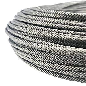 FOLUXING 316 Stainless Steel Wire Rope 1/8'' Aircraft Wire Rope Cable 7x7 for Railing Kit,Decking, DIY Balustrade(164Ft) by FOLUXING (Image #7)