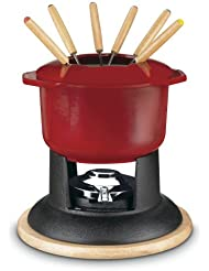 Cuisinart 7FP-16R Classic Entertaining Collection 12-Piece Cast Iron Fondue Set, Red