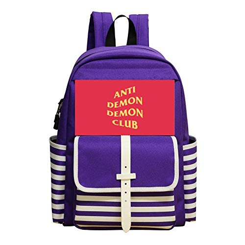 Anti Demon Funny Crazy Schoolbag Large Primary School Leisure Bag Children's Backpack Purple