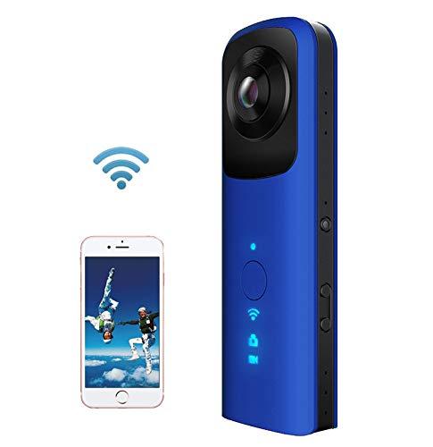 Cámara de 360 ° VR Cámara Digital Deportiva portátil, cámara portátil de Viaje al Aire Libre, cámara de Doble Ojo de...
