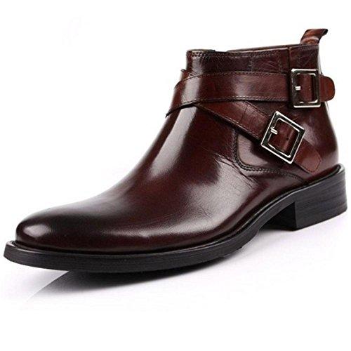 Botas de hombre de moda Botas altas de negocios Botas de invierno con hebilla 44