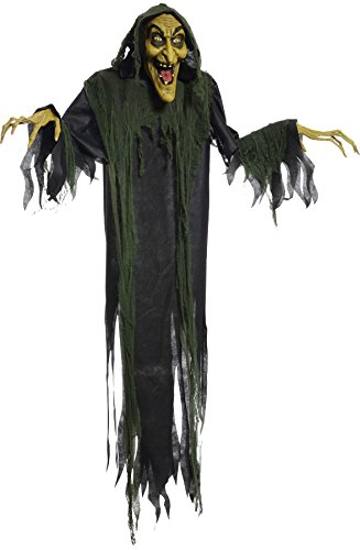 [Scary 72-Inch Hanging Witch Holiday Party Animated Halloween Prop] (Scary Halloween Witches)