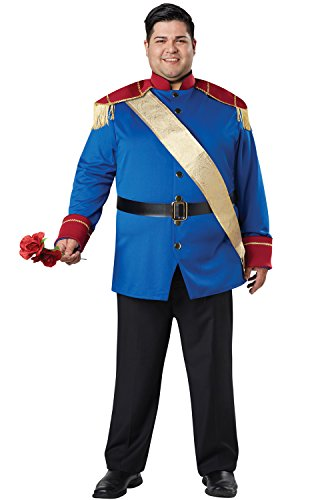 [Mens Plus Size Storybook Prince Costume Size 48-52] (Storybook Prince Adult Mens Costumes)