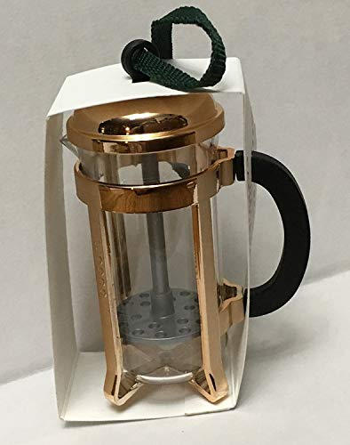 (Starbucks 2017 Acrylic Rose Gold French Press Ornament)