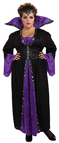 Forum Novelties Women's Sorceress Costume, Black/Purple, 3X