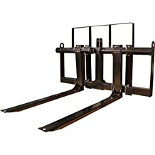 Load-Quip Front-End Loader Pallet Forks - 2000-Lb. Capacity, Black, Model# 29211732