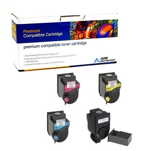 AIM Compatible Replacement for Konica Minolta bizhub C350/450 Toner Cartridge Combo Pack (BK/C/M/Y) (4053-01BCMY) - Generic