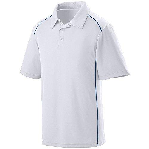 Augusta Sportswear MEN'S WINNING STREAK SPORT SHIRT XL White/Royal (Sports Winning)