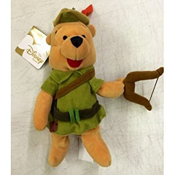 "Disney Store Robin Hood Winnie The Pooh 8"" Mini Bean Bag Plush Doll ..."