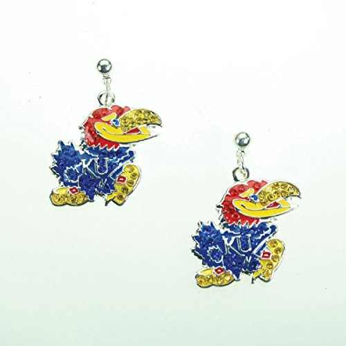 Kansas Jayhawks Crystal Logo Earrings