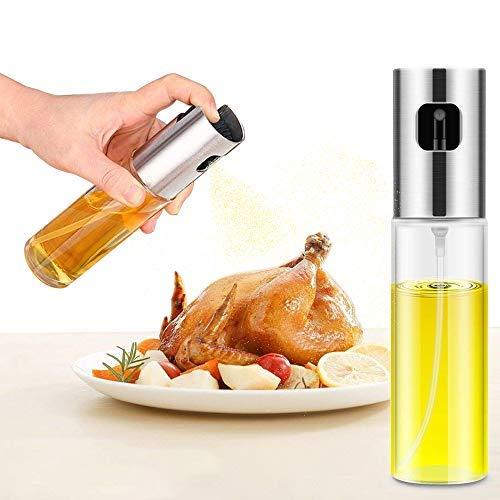 Olive Oil Spraye,Oil Sprayer Dispenser Transparen Food-grade Glassr,Versatile Glass Olive Oil Bottle for Cooking,Vinegar Bottle Glass,Making Salad,Cooking,Baking,Roasting,Grilling,Frying