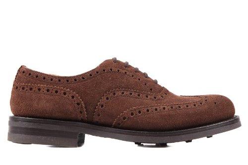 CHURCH S scarpe stringate classiche uomo in camoscio brogue marrone ... 8541aa96bae