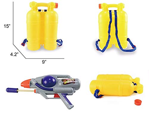 Liberty Imports Super Water Gun with Big Backpack Tank | Pump Soaker Blaster 3500 High Capacity Long Range Summer Outdoor Toys for Kids Adults (5205ml /176 Oz) by Liberty Imports (Image #3)