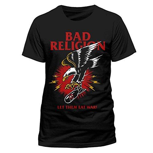 Bad Religion Eagle Let Them Eat War Punk Rock Official Tee T-Shirt Mens Unisex (Medium)