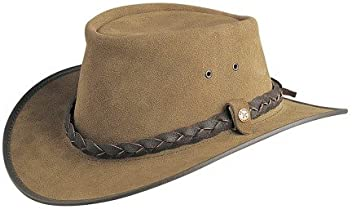 BC Hats Bac Pac Traveller Suede Australian Leather 442683851438