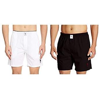 US Polo Association Men's Plain Cotton Boxer