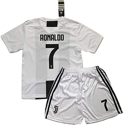 5b86b4720 AllStarA 2018-2019 Ronaldo #7 Juventus FC Home Jersey Shorts Kids/Youth (