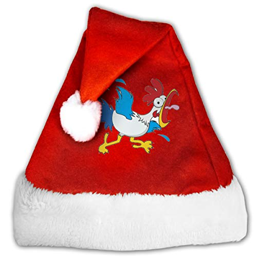 (Funny Cartoon Chicken Funny Christmas Hat Childrens and Adults Party)