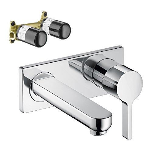 Hansgrohe KT31163-13622CR Metris S Wall-Mounted Single Handle Faucet ...