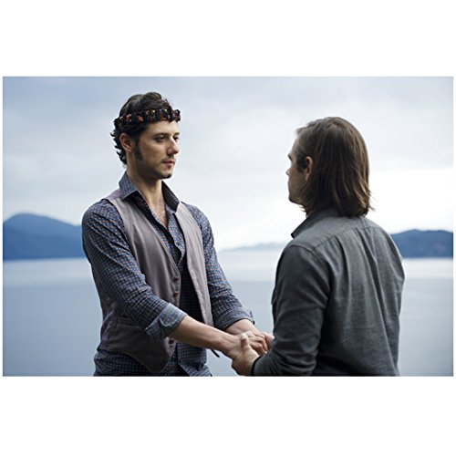 The Magicians Jason Ralph as Quentin Coldwater holding hands with Hale Appleman as Elliot Waugh 8 x 10 Inch Photo (Julia Wicker The Magicians)