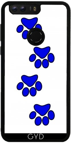 Funda de silicona para Huawei Honor 8 - Pata De Perro Azul. by loki1982