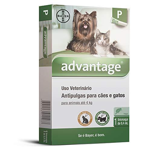 Antipulgas Advantage Bayer para Cães e Gatos de até 4kg - 1 Bisnaga de 4,0ml