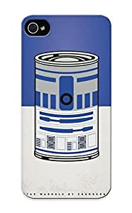 New Style Flyingangela Hard Case Cover Case For Sam Sung Galaxy S4 I9500 Cover - My Star Warhols R2d2 Minimal Can Poster