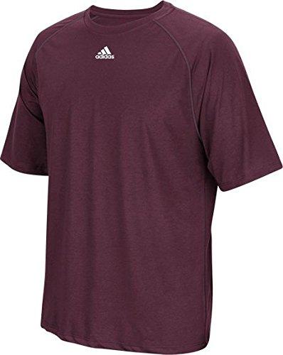 T Adidas pour bordeaux courtes manches shirt Climalite à homme 546wqT4
