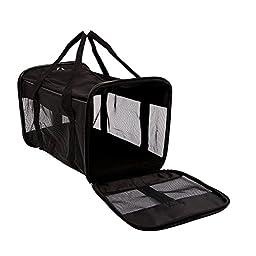 Petroad Collapsible Pet Travel Carrier Bag, Black