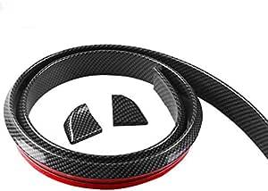 1.5M Car Bumper Strip Carbon Fiber Rubber Rear Spoiler Wing 40mm Width Universal Exterior Rear Spoiler Kit