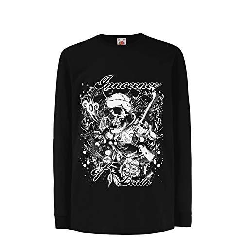 lepni.me Boys/Girls T-Shirt Innocence of Death - Skull Art, Heavy Metal Graphic (9-11 Years Black Multi by lepni.me