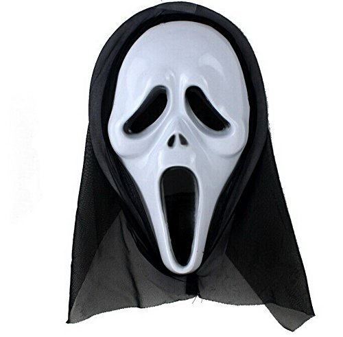 Ghostface Mask with Shroud Costume Accessory ()