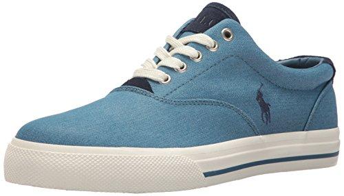 Polo Ralph Lauren Men's Vaughn-Colored Denim Sneaker, Blue, 7 D (Shoe Blue Denim)