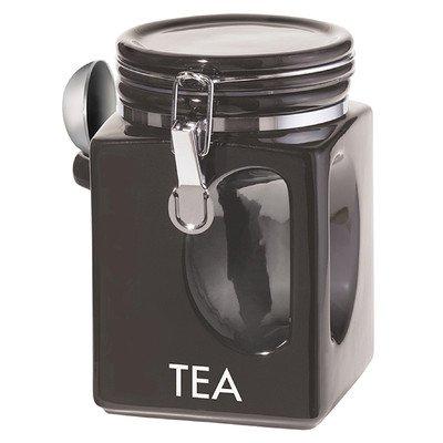Oggi Corporation 5830.3 Black EZ Grip Tea Canister