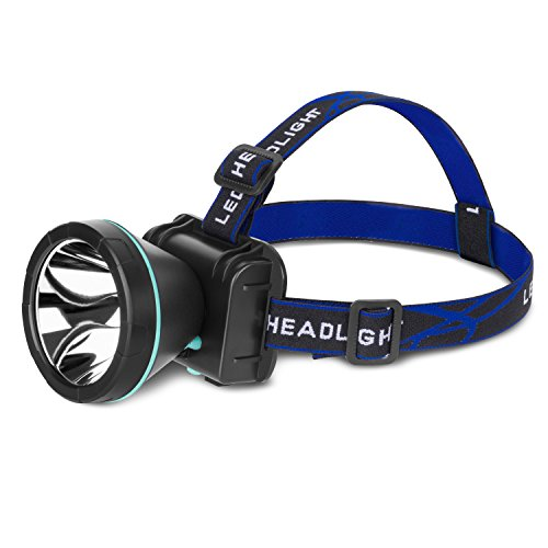 NVTED Waterproof 35W Headlamp Flashlight with High Power LED Rechargeable Head Flashlight Headlight for Camping, Running, Hiking, Fishing
