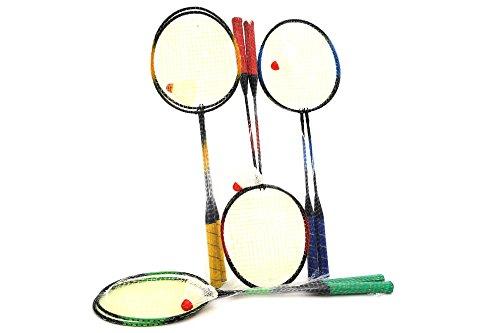 Globo Toys Globo - 37653 65.5 cm 4 Colour Summer Rackets Badminton (2-Piece)