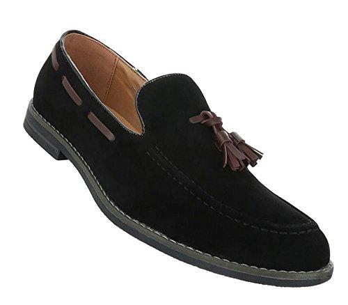 Herren Halbschuhe Schuhe Schuhe Slipper Herren Schwarz rxq0rOZwP