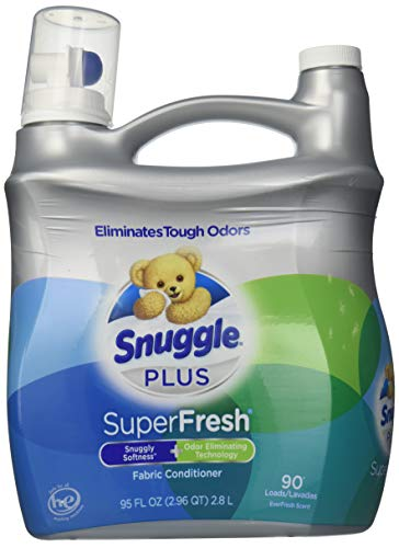 Snuggle Plus Super Fresh Fabric Softener Liquid with Odor Eliminating Technology, 95 Fluid Ounce by Snuggle ()