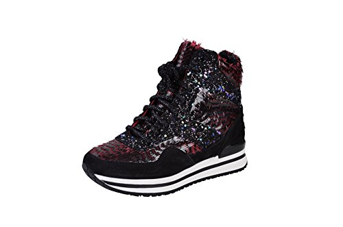 Gold 2Star Shoes Women's Black Pink Leather Sneaker 36