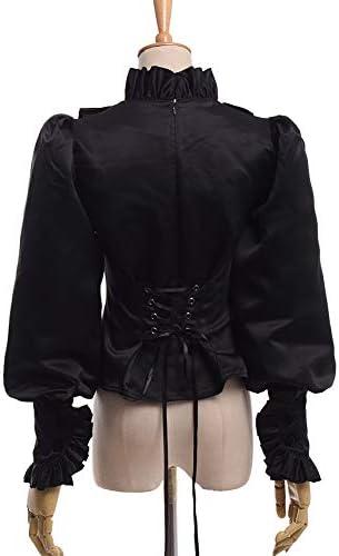 BLESSUME Black Lolita Blusa Volante Negra: Amazon.es: Ropa y ...