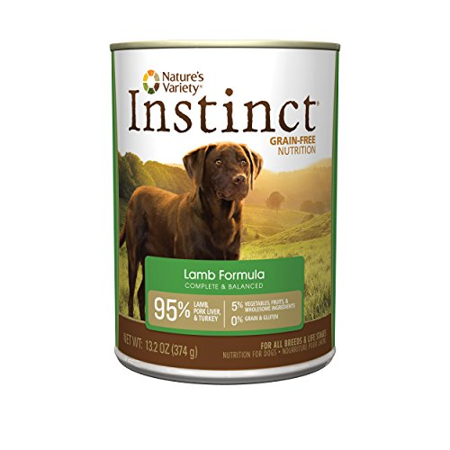 Instinct Grain Free Lamb Formula Natural Wet Canned Dog Food by Nature's Variety, 13.2 oz. Cans (Case of 12) (13.2 Ounce Puppy Food)