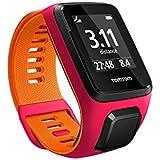 TomTom Runner 3 Cardio Orologio GPS, Cardiofrequenzimetro Integrato, Cinturino Small, Rosa Scuro/Arancione