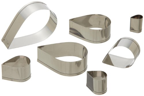 e Tear Drop Cutters in Graduated Sizes, Stainless Steel, 7 Pc Set ()