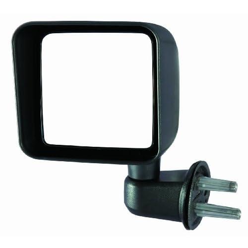 Passenger Side Manual Mirrors Black Pair For 2007-2017 Jeep wrangler Driver