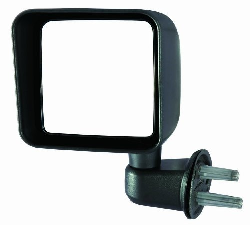 Depo 333-5409L3MF Jeep Wrangler Driver Side Textured Swing Away Manual Mirror - Jeep Wrangler Side Mirrors