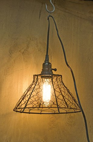 Heart of America Chicken Wire Lamp with Cord