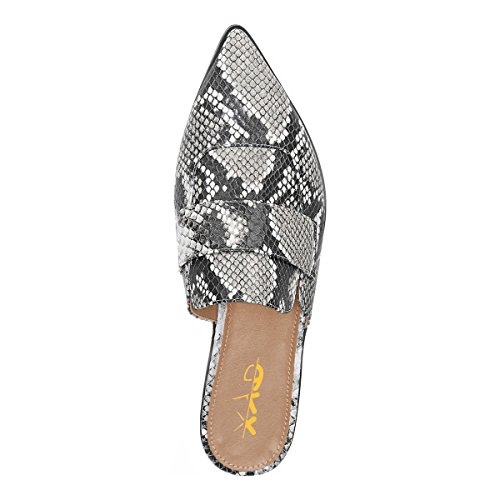 fashionable sale online free shipping new styles XYD Womens Retro Backless Slip On Loafers Flat Pointed Toe Mule Slipper Shoes Snakeskin cheap 2014 gKr5fMT