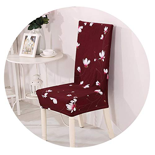 yunzhongke Floral Print Elastic Stretch Slipcovers Chair Cover Kitchen Dining Room Slipcover Seat Cover for Wedding Hotel Banquet,05,Universal