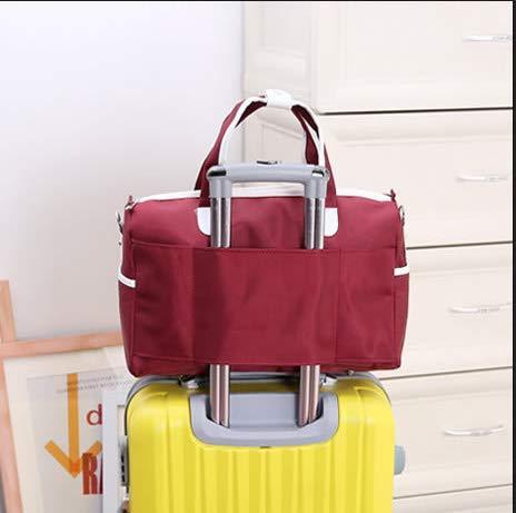 Ybriefbag Unisex Canvas Travel Bag Fitness Bag Fitness Travel Casual Shoulder Diagonal Large Capacity Short Trip Bag Male Hand Laptop Folding Waterproof Travel Bag Vacation